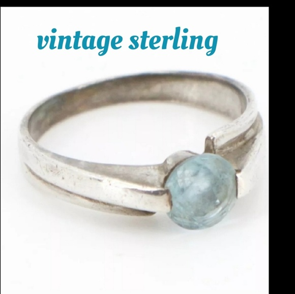 3b9e81405 Vintage Jewelry | Sterling Faceted Blue Topaz Ring Size 6 | Poshmark